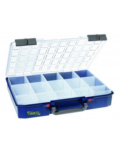 Carry lite 80 5x10-15-RAACO-caja con 15 compartimentos